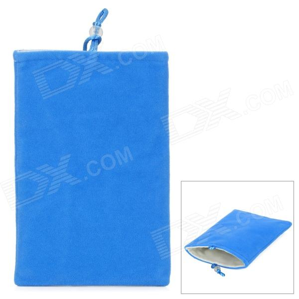 "Universal 5"" Double-Layer Flannel Bag Pouch for GPS / MP3 / MP4 / E-Book - Blue"