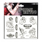 YM-K007/YM-K008 Fashionable Angel Pattern Tattoo Paper Sticker - Black