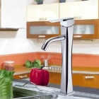 8228-B Zinc Nickel + Chrome Plated Single Hole Kitchen Faucet - Silver