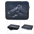 "JS14048 Pistol Pattern Protective Neoprene Soft Inner Bag Sleeve for 10.2"" Laptops - Black"