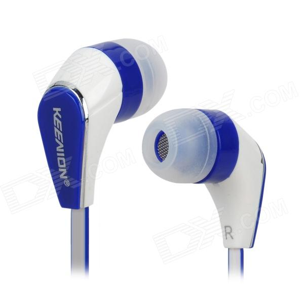 Keenion KDM-E602 In-ear Style Stereo Earphones - White + Blue sven seb 260m white