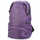Oiwas 4071 Nylon Travel Double-Shoulder Backpack Bag - Purple + Black (25L)