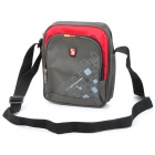 Oiwas 5327 Sport Casual Nylon Water Resistant Shoulder Bag - Red + Grau