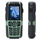 "A85 Waterproof GSM Rugged Phone w/ 2.0"" Screen, Quad-Band, GPS and Single-SIM - Army Green + Black"