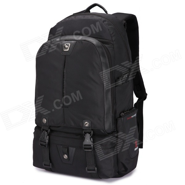 Oiwas 2901XL Nylon Travel Double-Shoulder Backpack Bag - Black (32L)