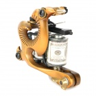 97183 Professional Tattoo Machine Liner Shader Gun - Golden + Black