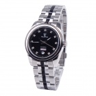 OLIPAI JT7026-SB-B Stainless Steel Self-winding Mechanical Wrist Watch w/ Double Calendars - Silver