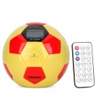 KV-2014 Football Style Music Speaker w/ FM / SD Card Slot / Remote Control - Black + Yellow + Red