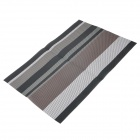 Western Food PVC Heat Insulation Pad Table Mat - Grey + Black