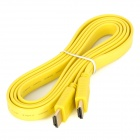 HDMI V1.4 1080P Male to Male Flat Connection Cable - Yellow (150cm)