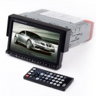 "CTJ 7368 7.0"" Resistive Screen Single Din Car DVD Media Player w/ Bluetooth / TV / FM / SD / TF"