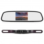 2-in-1 Car Vehicle Monitor 4.3&quot; LCD Rearview Mirror &amp; 2.4GHz Wireless Camera w/ 5 IR LED - Black