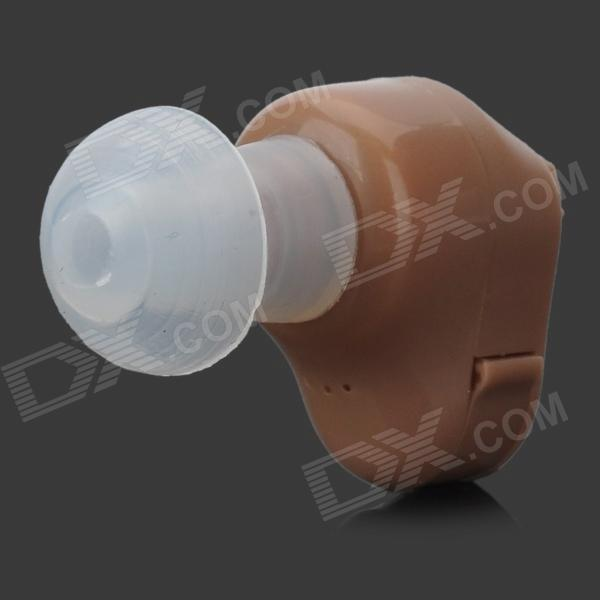 900 In-Ear Ear Sound Voice Amplifier Hearing Aid - Light Brown (1 x A312)