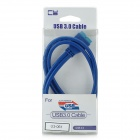 CY U3-061 USB 3.0 Mainboard 20-Pin Male to 20-Pin Male Extension Data Cable - Blue (50cm)