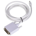 CY DP-023 Mini DisplayPort to DVI Data Cable for MacBook + More - White (180cm)