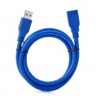 CY U3-004 USB 3.0 A Male to USB 3.0 A Female Extension Data Cable - Blue (100cm)