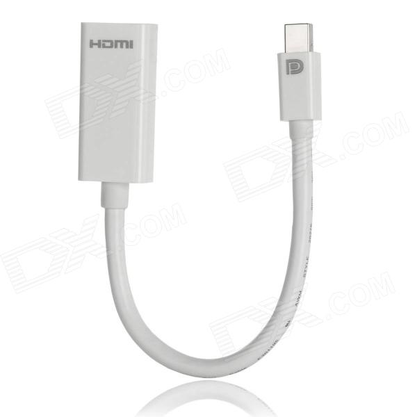 CY DP-056 Mini DisplayPort DP to HDMI v1.4 Data Cable - White (15cm)