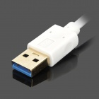 CY U3-081 USB 3.0 Male to Male Extender Adapter Cable - White (1m)