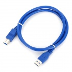 CY U3-002 USB 3.0 Type-A male to USB 3.0 Type-B male Data Transmission Cable - Blue (1m)