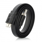 CY U3-031 USB 3.0 A macho a B Micro USB 3.0 Male datos Cable plano - Negro (50cm)
