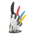 "3"" + 4"" + 5"" + 6"" Chic Chefs Kitchen Seafood Ceramic Knife Knives Peeler Set - Multicolor (5 PCS)"