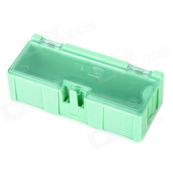 Multifunction Building Block SMD Components Storage Box - Light Green (75 x 31x 21mm)