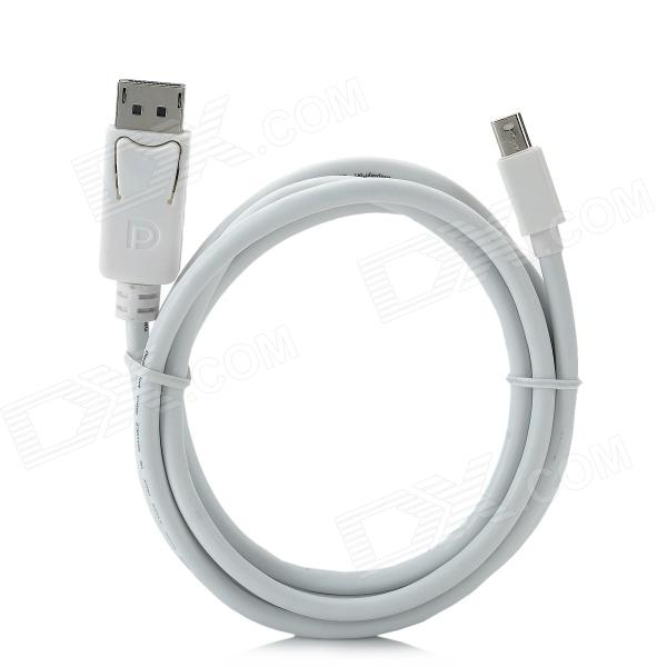 CY DP-017 Mini DisplayPort Male to DisplayPort Data Cable for MacBook + More - White (180cm) wskyfook пзс