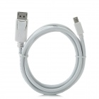CY DP-017 Mini DisplayPort Male to DisplayPort Data Cable for MacBook + More - White (180cm)