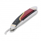 KG108 Vintage Classic Stainless Steel Straight Edge Razor Folding Shaving Razor Knife - Silber