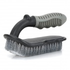 RC-314 Car Tire Cleaning Washing Brush w/ Anti-Slip Grip Handle - Black (Size L)