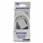 CY DP-024 Mini DisplayPort para VGA Cabo para MacBook - Branco (1.8m)