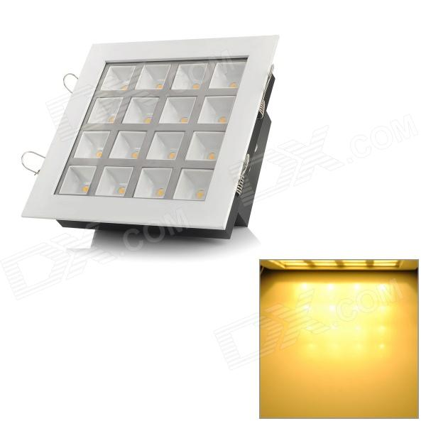 Square Shaped 16W 1600lm 3500K Warm White 16-LED Ceiling Light Lamp - White (85~265V) kinfire square shaped 15w 1320lm 75 smd 3528 led white light ceiling lamp w driver ac 85 265v