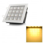Square Shaped 16W 1600lm 3500K Warm White 16-LED Ceiling Light Lamp - White (85~265V)