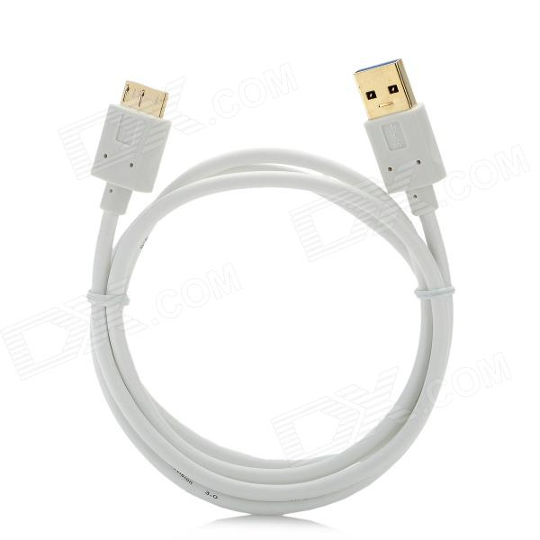 CY Ultra-Slim USB 3.0 A Male to Micro USB Male Cable - White (100cm)