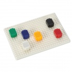 DIY Multi-color 6 Mini Breadboards Set w/ White Base
