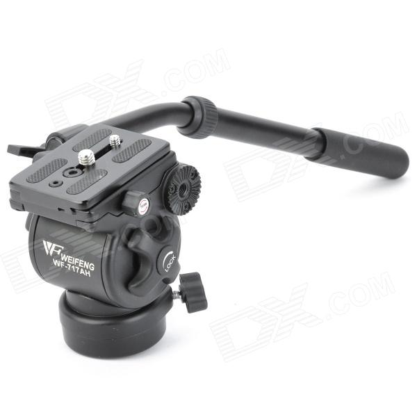 WeiFeng WF717AH Aluminum Alloy Tripod Ball Head w/ Quick Release Plate - Black ye 306 aluminium magnesium alloy ball head w quick release plate adapter black