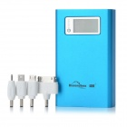 "Blueendless BS-6600 Externe 1,5 ""LCD 6600mAh Power Akku w / 1-LED Light for Cell Phone - Blue"
