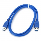 CY U3-001 USB 3.0 A Male to USB 3.0 A Male Mobile HDD Data Cable - Blue (100cm)