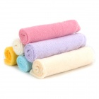 LT-0601 Baby Infant Soft Cotton Handkerchief Bid Feeding Towel Scarf - Yellow + Blue + Beige (6 PCS)