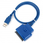 CY U3-027 USB 3.0 Male to SATA 22-Pin Connection Cable - Blue (0.5m)