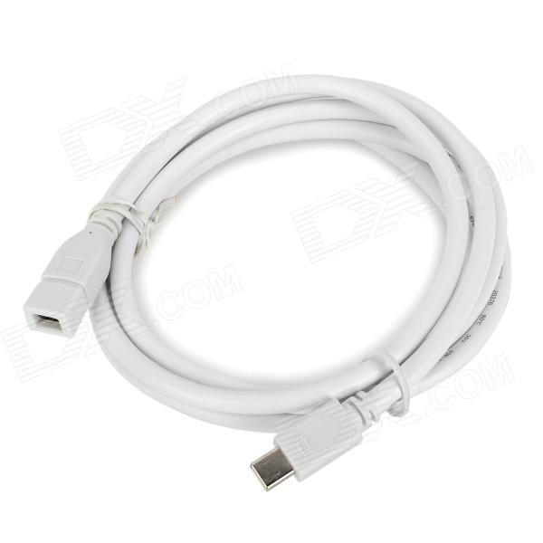 CY DP-019 Mini DisplayPort Male to Female Extender Cable - White (1.8m) displayport dp male to male connection cable 1 5m length