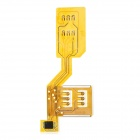 Dual SIM Card Adapter for Iphone 3g / 3GS - Yellow