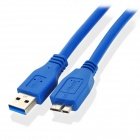 CY U3-003 USB 3.0 A Male to B Micro USB 3.0 Male Flat Data Cable - Deep Blue (100cm)