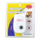 Ultrasonic Electronic Cockroach Mosquito Pest Repeller - White + Deep Blue (AC 90~250V)