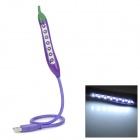 Creative Pepper Style USB Flexible White 7-LED Light Lamp - Purple
