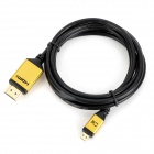 CY HD-103 Micro HDMI Male to HDMI Male Cable for XT800 / XOOM / TF201 / A500 - Black (150cm)