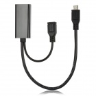 CY MH-008 Micro USB MHL to HDMI Female Cable for Samsung i9100 / HTC G14 - Black (17cm)