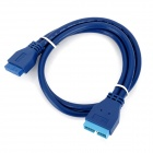 CY U3-057 USB 3.0 Motherboard 20-Pin Male to 20-Pin Female Data Extender Cable - Blue (50cm)