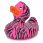 Zebra Grain Funny Floating Duck Bath Toy for Kids - Deep Pink + Black