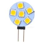 Buy G4 0.9W 78lm 3200K Warm White 6-SMD 5050 LED Light Bulb - Yellow + (12V)